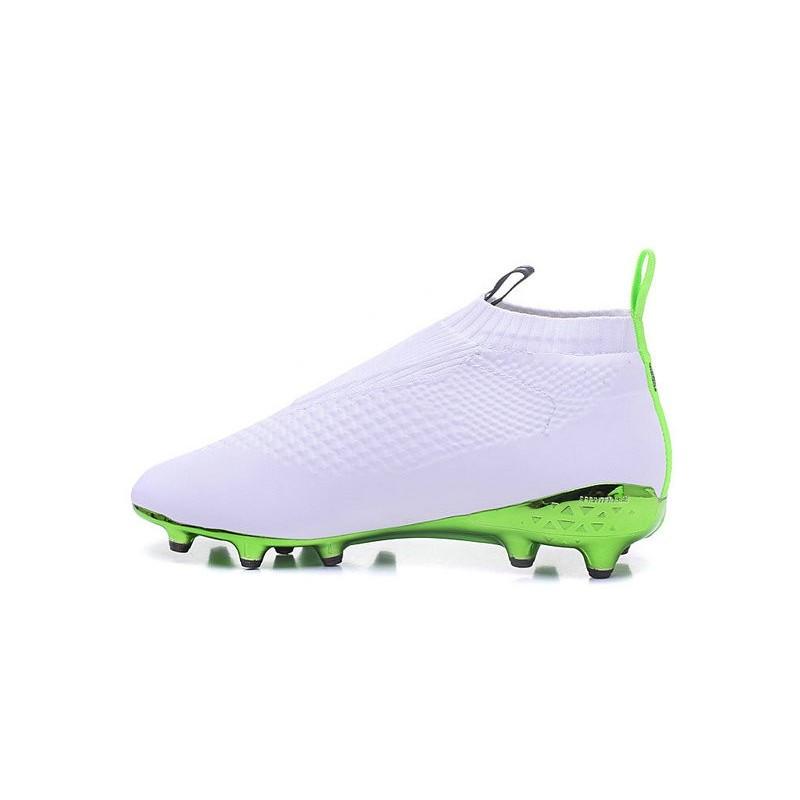 Adidas Ace16 Purecontrol FG/AG Chaussures de Football Pour Homme Vert Blanc Noir