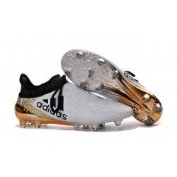 Homme - Adidas X 16+ Purechaos FG/AG Crampons Blanc Or Noir