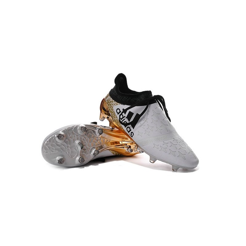 check out 063dd 76f09 ... homme adidas x 16 purechaos fgag crampons blanc or noir