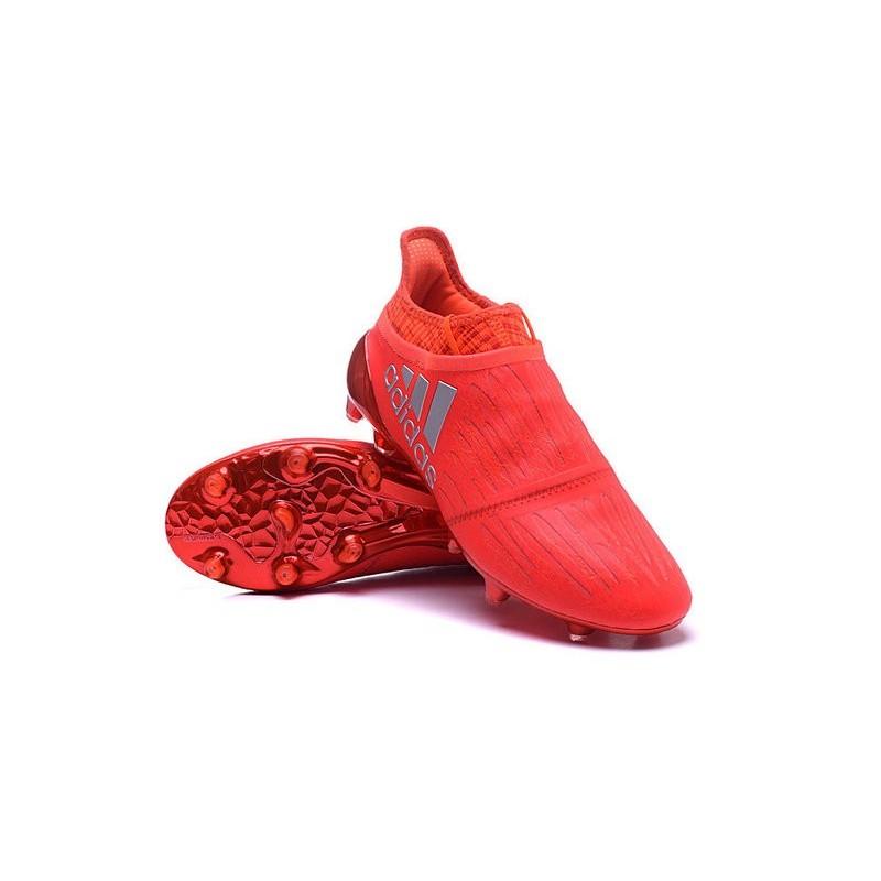 crampon adidas rouge