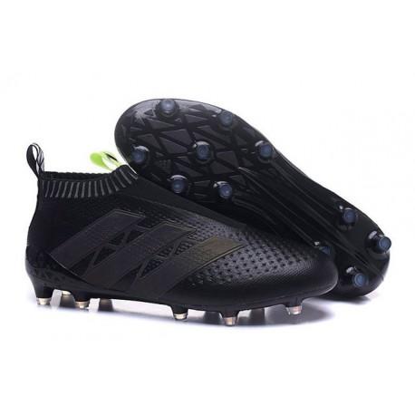 Adidas Ace16+ Purecontrol FG/AG Chaussures de Football Pour Homme Noir Jaune