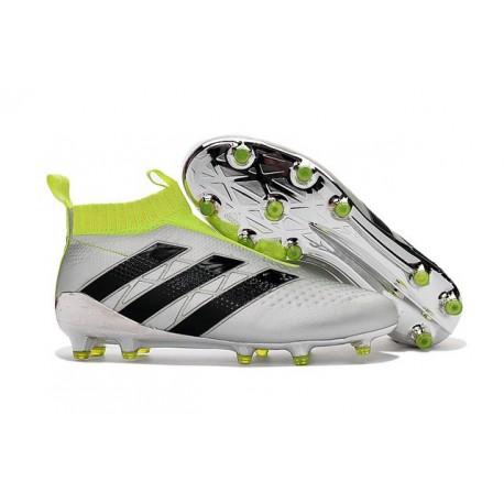 Adidas Ace16+ Purecontrol FG/AG Chaussures de Football Pour Homme Argent Noir Jaune