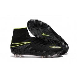 Nike HyperVenom Phantom 2 FG Chaussures de football Noir Volt