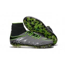Nike HyperVenom Phantom II FG Football bottes pour hommes Platine Noir Vert