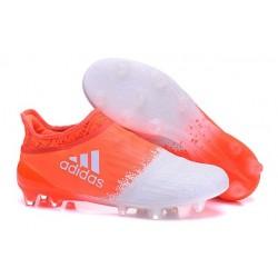 Homme - Adidas X 16+ Purechaos FG/AG Crampons Blanc Orange