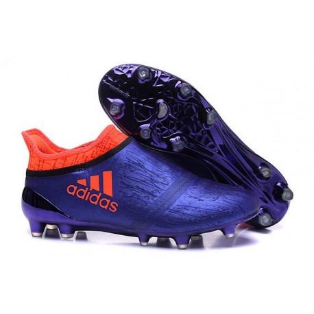 Homme Adidas X 16+ Purechaos FGAG Crampons Violet Orange