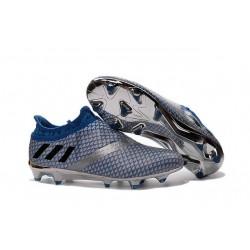 Adidas Messi 16+ Pureagility FG/AG Chaussures de football pour Homme Argent Noir Bleu