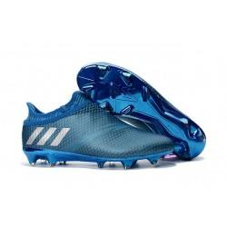 Adidas Messi 16+ Pureagility FG/AG Chaussures de football pour Homme Bleu Argent Noir