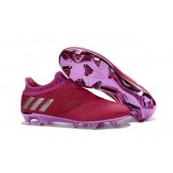 Adidas Messi 16+ Pureagility FG/AG Chaussures de football pour Homme Rouge Violet Argenté