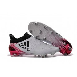 Homme - Adidas X 16+ Purechaos FG/AG Crampons Blanc Noir Rouge