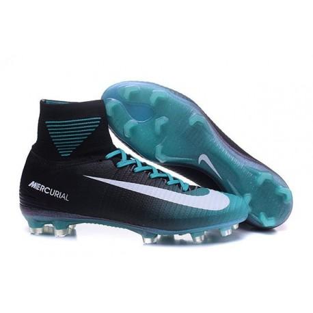 buy online 26ead 27868 Chaussure Nike Mercurial Superfly 5 FG pour Hommes Noir Bleu Blanc
