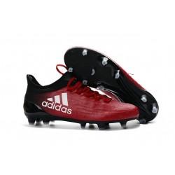 2016 Chaussures de football Adidas X 16.1 AG/FG Rouge Blanc Noir