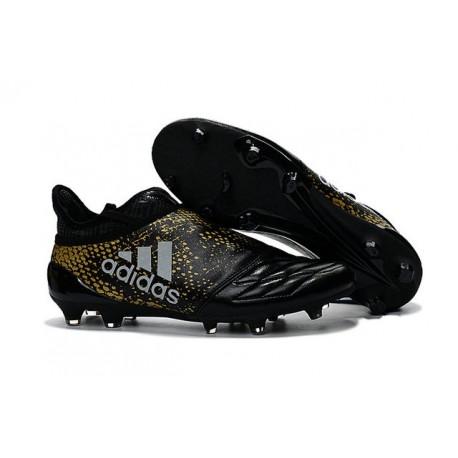 Homme Adidas X 16+ Purechaos FGAG Crampons Noir Or