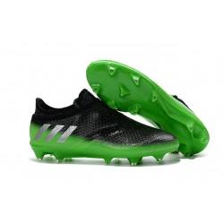 Adidas Messi 16+ Pureagility FG/AG - Chaussures foot 2016 - Gris Foncé Argent Vert