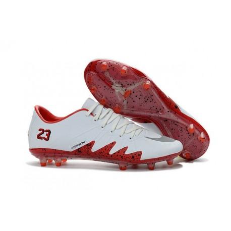 convient aux hommes/femmes choisir véritable magasin d'usine Nouveau Nike Hypervenom Phinish FG Chaussure de Football Hommes Neymar x  Jordan Blanc Rouge