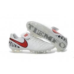 Nouveau Crampons de Football Nike Tiempo Legend VI FG Blanc Rouge