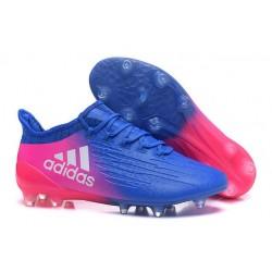 2016 Chaussures de football Adidas X 16.1 AG/FG Bleu Rose Blanc