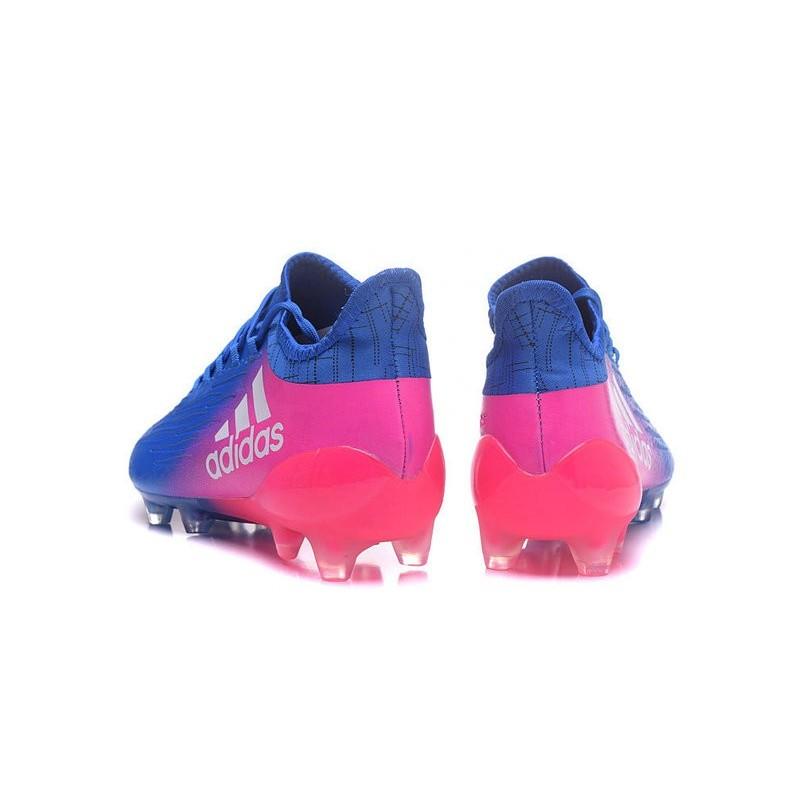 super popular c7cbc fc8b5 chaussures de football adidas x 161 agfg bleu rose blanc