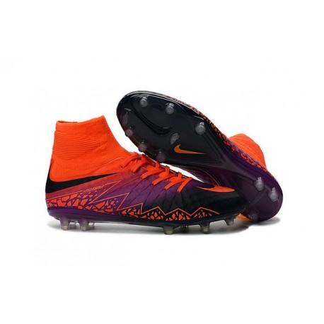 Nike HyperVenom Phantom II FG Football bottes pour hommes Carmin Obsidienne Violet
