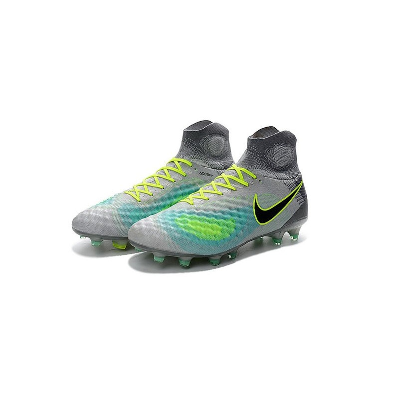 nouvelles chaussures foot nike magista obra ii fg platine noir vert. Black Bedroom Furniture Sets. Home Design Ideas