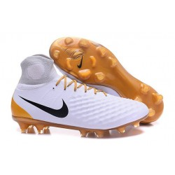 Nouvelles - Chaussures Foot Nike Magista Obra II FG Blanc Or
