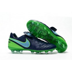 Nouveau Crampons de Football Nike Tiempo Legend VI FG Bleu Mer Bleu Vert