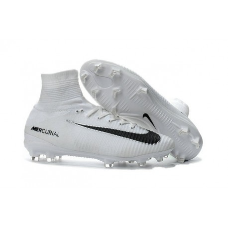 new product ec957 ad07a Chaussure Nike Mercurial Superfly 5 FG pour Hommes Blanc Noir