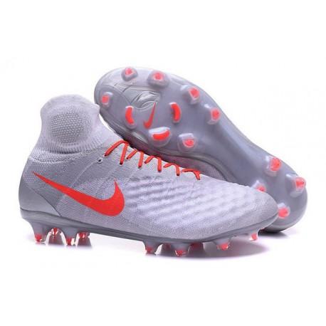 Nouvelles - Chaussures Foot Nike Magista Obra II FG Gris Orange