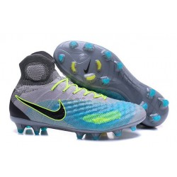Nouvelles - Chaussures Foot Nike Magista Obra II FG Platine Noir Vert