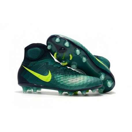 Nouvelles - Chaussures Foot Nike Magista Obra II FG Turquoise Rio Volt Obsidienne Jade