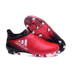 Homme - Adidas X 16+ Purechaos FG/AG Crampons Rouge Blanc Noir