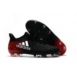 2016 Chaussures de football Adidas X 16.1 AG/FG Noir Blanc Rouge