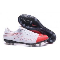 Nouveau Nike Hypervenom Phinish FG Chaussure de Football Hommes Wayne Rooney Blanc Rouge Noir