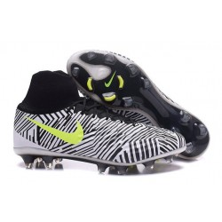 Nike Magista Obra II FG Football bottes pour hommes Noir Blanc Jaune