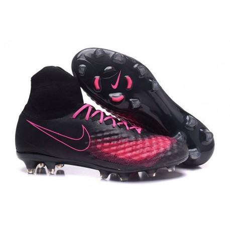 Nike Magista Obra II FG Chaussures de football Noir Rose