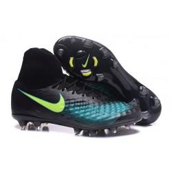 Nike Magista Obra II FG Chaussures de football Noir Bleu Vert