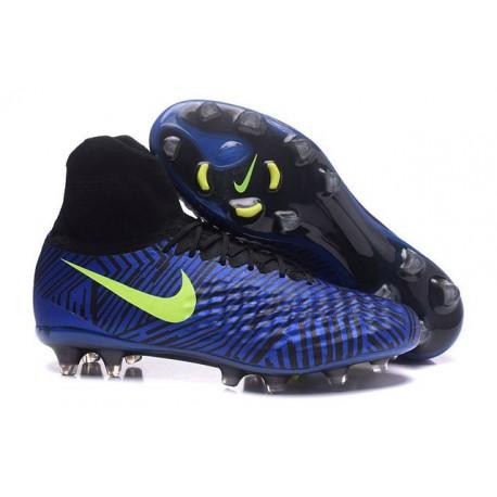 Nike Magista Obra II FG Football bottes pour hommes Bleu Noir Volt