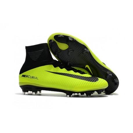 Chaussure Nike Mercurial Superfly 5 FG pour Hommes Volt Noir