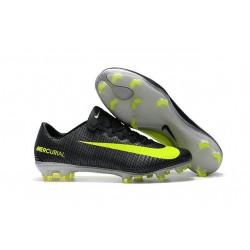 Nouvelles Chaussures Nike Mercurial Vapor 11 FG CR7 Algue Volt Hasta Blanc