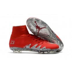 Nike HyperVenom Phantom II FG Football bottes pour hommes Rouge Argent