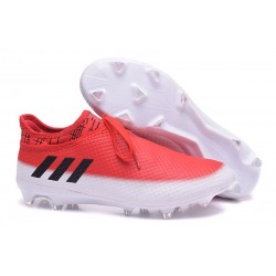 Adidas Messi 16+ Pureagility FG/AG - Chaussures foot 2017 - Blanc Noir Rouge