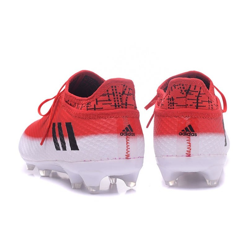 f8539cfb12a Adidas Messi 16+ Pureagility FG AG - Chaussures foot 2017 - Blanc Noir Rouge