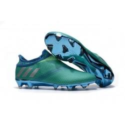 Adidas Messi 16+ Pureagility FG/AG - Chaussures foot - Vert Bleu Argent