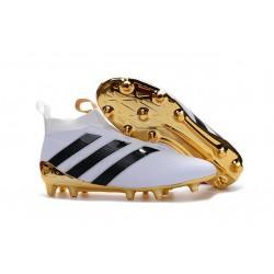 Adidas Ace16+ Purecontrol FG/AG Chaussures de Football Pour Homme Blanc Or Noir