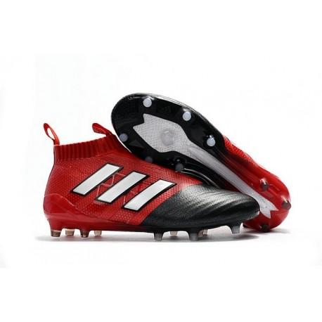 Adidas Ace17+ Purecontrol FG/AG Chaussures de Football Pour Homme Blanc Rouge Noir