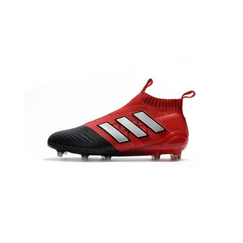 Nouveau Chaussures de Football Adidas Ace17+ Purecontrol FGAG Blanc Rouge Noir