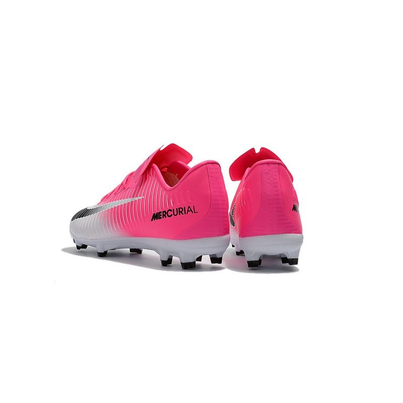 bas prix 3369d 3918c Nike Mercurial Vapor XI FG 2017 Crampon de Foot Blanc Rose Noir