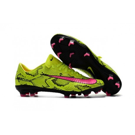 Nike Mercurial Vapor XI FG 2017 Crampon de Foot Jaune Rose