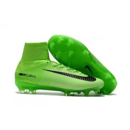 wide varieties cost charm new high Nike Mercurial Superfly V FG Crampons Nouveaux 2017 Vert Noir