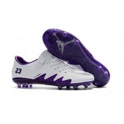 Nouveau Nike Hypervenom Phinish II FG Chaussure de Football Hommes Blanc Violet